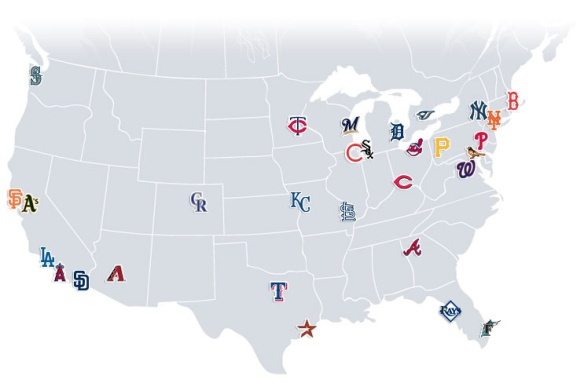 MLB-teams-map