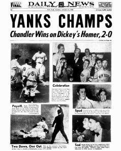 front page Daily News New York Yankees Book with Eastern Press