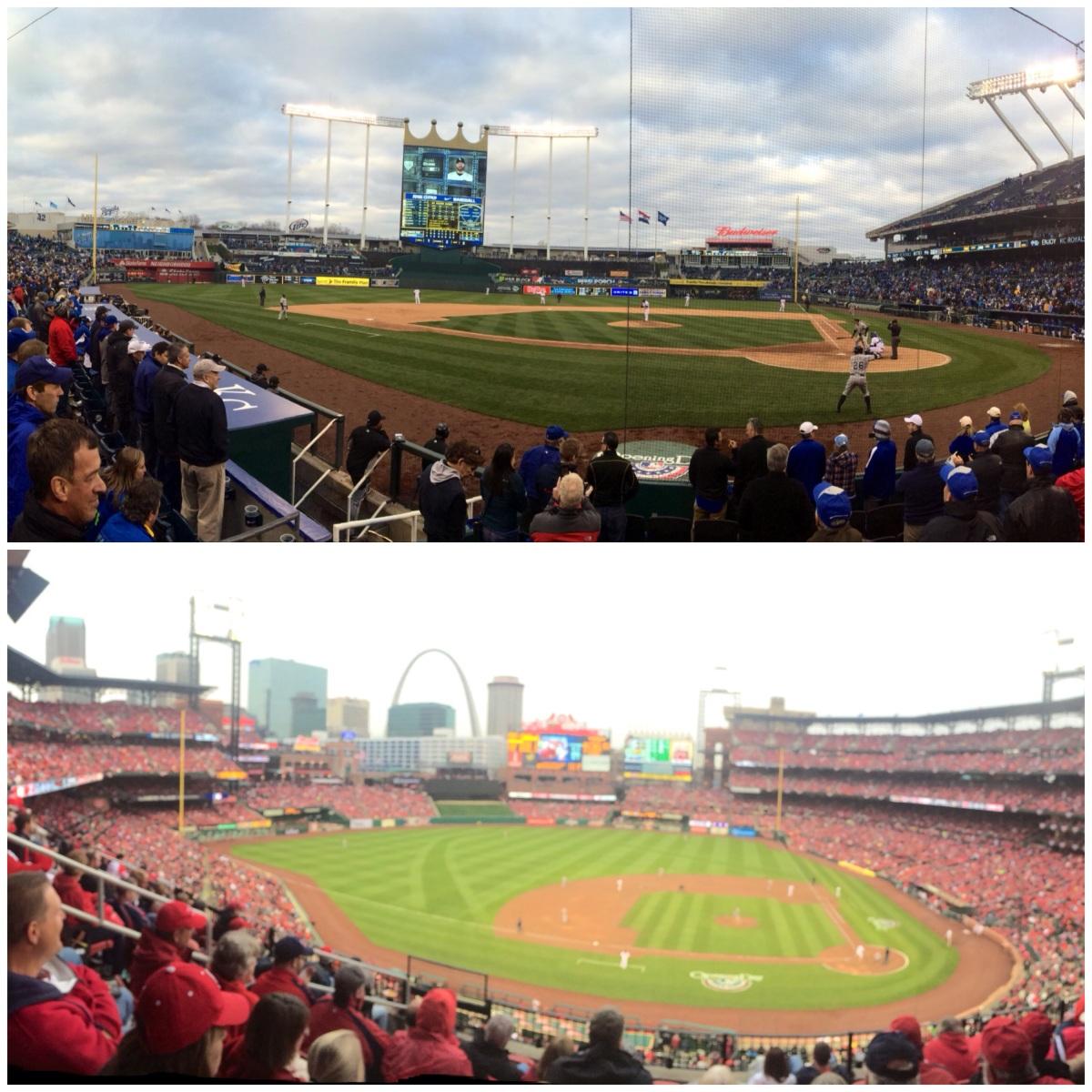 Games 2 & 3: Kauffman Stadium, Kansas City & Busch Stadium, St.Louis